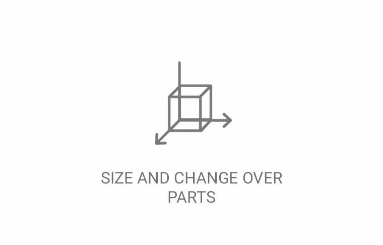 Size and Changeover Parts