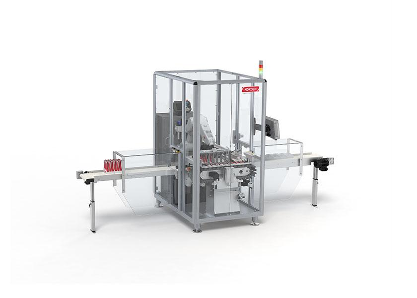 Box packing or tray packing machine for tubes, up to 80 tpm